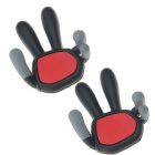 Universal Car Vent Phone Holder - Black + Red + Multicolor (2PCS)