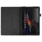 PU Leather Smart Case w/ Stand for Sony Xperia Tablet Z4 - Black