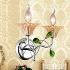 Home Decoration Double Wall Lights w/ Glass Cover - Silver (AC 100~240V)