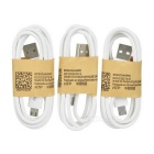 3-USB EU Plug Charger + Charging Cable for Samsung S6 - White + Black
