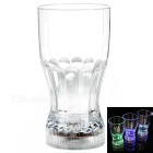 Creative Water Sensing Colorful Light Acrylic Cola Cup - Transparent (2 x CR2025 / 400ml)