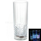 Water Sensing LED Colorful Light Acrylic Cup - Transparent (2 x CR2025 / 400ml)