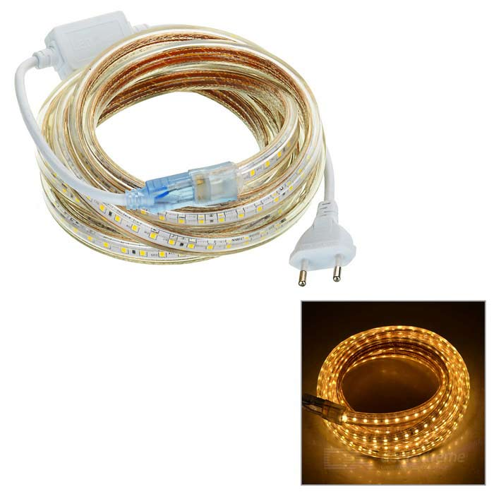 36W LED Light Strip Warm White 300-SMD - White + Beige (EU Plug / 3m)
