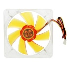 Akasa 7-Blade Ultra Quiet 12cm PC Case Amber Cooling Fan - Orange + Transparent