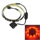 Akasa 15-LED Light Strip Red 700nm for Computer Case/ Box - Black (60cm / 12V)