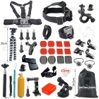 42-in-1 Hot Outdoor Sports Camera Accessories Kit for GoPro Hero 1 / 2 / 3 / 3+ / 4 - Black