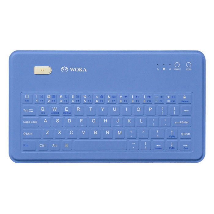 Woka Wireless Bluetooth Keyboard for Android / Microsoft / IOS - Blue