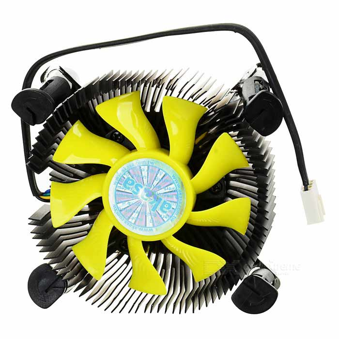 K25 Compact CPU Cooler Fan for Mini-ITX + More - Black + Yellow