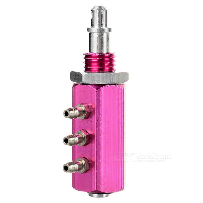 DIY 3-Way Air Valve Connector for R/C Fixed-Wing Airplane - Deep Pink