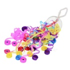 Colorful Grenade Shape Spider Silk Paper Ribbons Throw Streamer Stage Magic Props - Multi-Color