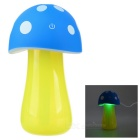 USB Powered Mushroom Style Air Humidifier w/ LED Light - Blue + Yellow