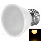 E27 2W LED Bulb Warm White 3000K 100lm 6-SMD 5730 - Silver + Grey (AC 220V)