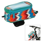 ROSWHEEL Water-Resistant Touchscreen-Handy Fall-Fahrrad-Top-Schlauch-Beutel - Blau + Multicolor (M)