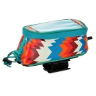 ROSWHEEL Water-Resistant Touch-Screen Case Bike Tube Bag - Blue (M)