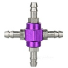 DIY 4-Way Aluminum Alloy Air Valve Adapter Connector for R/C Fixed-Wing Airplane - Purple