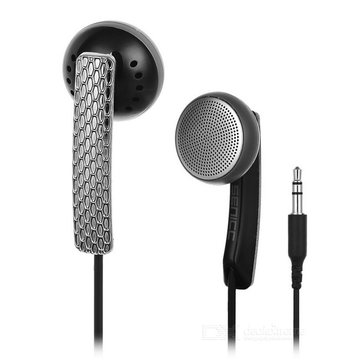 SENICC In-Ear 3.5mm Wired Earphones - Black + Silver