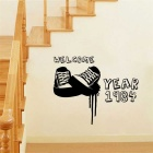 Sneakers Pattern Wall Decal PVC Wall Sticker - Black