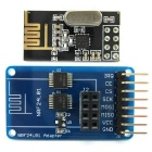 NRF24L01 2.4GHz Wireless Transceiver Module + Adapter Module 3.3V / 5V Compatible for Arduino