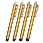 High-Sensitive Capacitive Touch Screen Stylus Pens for IPHONE / IPAD - Golden (4 PCS)
