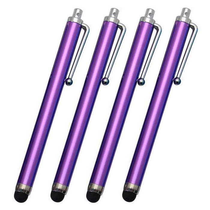Capacitive Touch Screen Stylus for IPHONE / IPAD - Purple (4PCS)