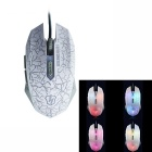 Professional USB Powered Wired Gaming Mouse - White