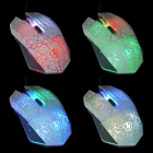 Professional USB 2.0 Powered Wired LED Gaming Mouse - White