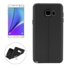 ENKAY Leather Texture TPU Case for Samsung Note 5 N9200 - Black