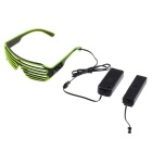 Party / Concert 3-Mode LED Lighting Glasses w/ Controller - Green + Black (2 x AA)
