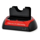 USB 3.0 Dockingstation für SATA / IDE HDD - schwarz + rot (UK Stecker)