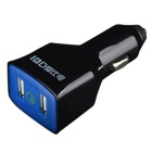 IBD Universal Portable QC 2.0 Dual USB Car Power Mobile Phone Charger - Black