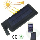 Universal 6000mAh Solar Power Mobile Power Bank for Samsung, Xiaomi, IPHONE + More - Black