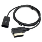 AMI Male to USB Female AUX Flash Drive Adapter Cable for Car - Black (1m)