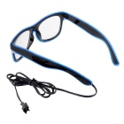 Party / Concert 3-Mode Sound Control LED Lighting Glasses - Blue