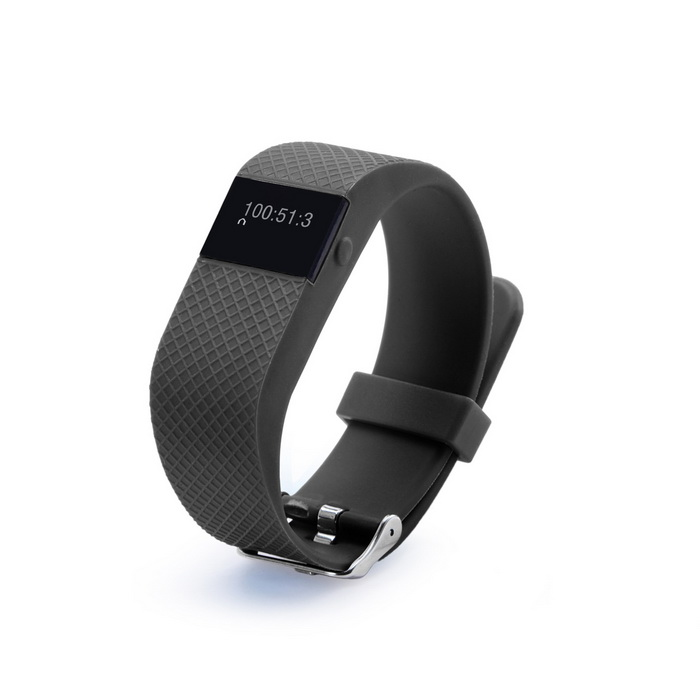 "Multifunctionele 0.44"" OLED Bluetooth Smart Armband - Zwart"