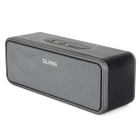 SLANG 6W PU Case Bluetooth 1200mAh Rechargeable Speaker w/ AUX / Micro SD / Micro USB - Black