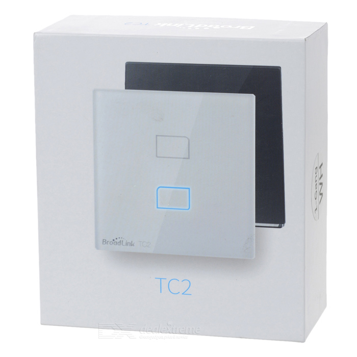 BroadLink TC2 Single Channel Smart Home Wall Light Switch RF433MHz ...