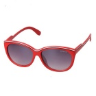OREKA Fashionable UV400 Protection PC Sunglasses - Red + Gray