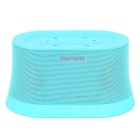 SLANG 10W Super Bass Stereo Bluetooth 4400mAh Rechargeable Speaker w/ AUX / TF - Light Blue