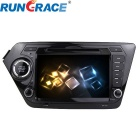 Rungrace 8-inch 2 Din TFT Screen In-Dash Car DVD Player for Kia K2 with BT, GPS, RDS, DVB-T