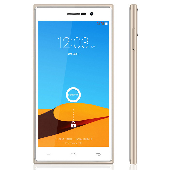 Blackview Arrow Android 4.4 Phone w/ 2GB RAM, 16GB ROM - White + Gold
