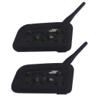 Vnetphone V6-1200-2-UE outdoor motocicleta capacete bluetooth interfones intercomunicador em tempo real (par)