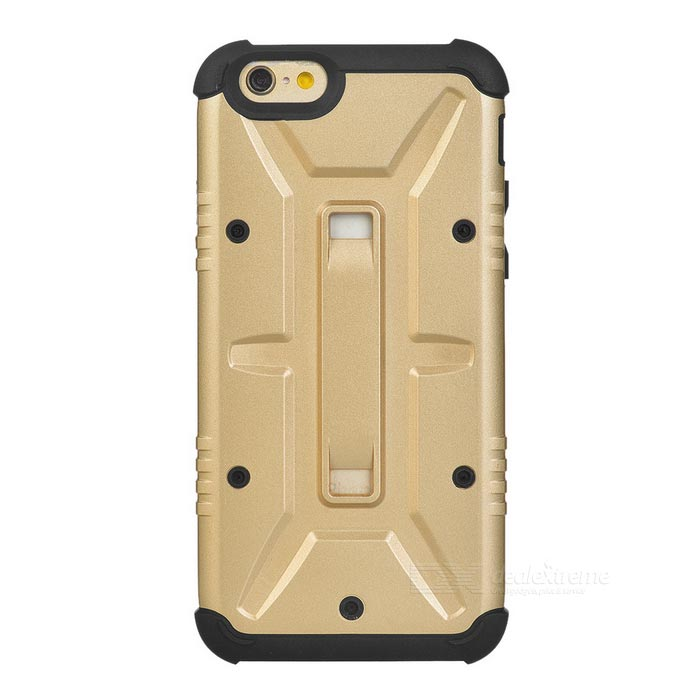 Funda protectora para PC + TPU para IPHONE 6 - Light Golden + Black