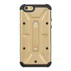Protective PC + TPU Back Case for IPHONE 6 - Light Golden + Black