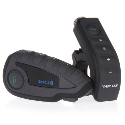 VNETPHONE V8-1-US 5 Riders Motorcycle Bluetooth Helmet Intercom w/ NFC