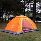 HARLEM Outdoor Waterproof Foldable 2-Season Camping Tent for 2 Person - Orange + Yellow + Multicolor