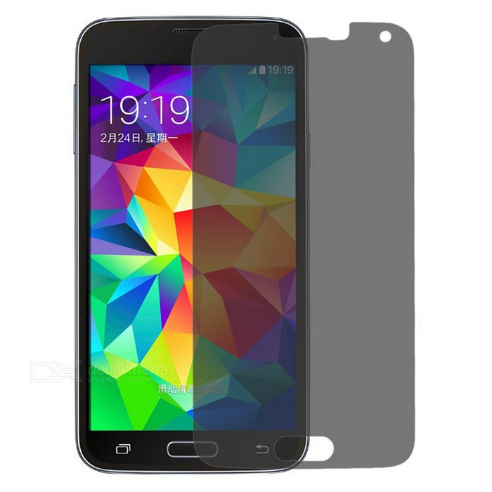 finesource anti-spy gehard glas film voor Samsung S5 - Zwart