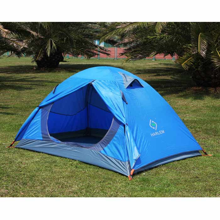 HALIN Waterproof Foldable 2-Season Camping Tent for 2 Person - Blue