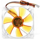 Akasa 7-Blade Ultra Quiet 9.2cm PC Case Amber Series Cooling Fan - Orange + Transparent
