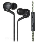 Mosidum 3.5mm Plug Mega Bass Ear-Hook Sports Earphones Headphones w/ Remote & Mic. - Black + Silver