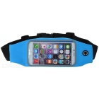 Mini Smile Outdoor Sports Adjustable Nylon Waist Band for IPHONE 6 - Blue + Black + Multicolor
